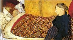 La Berceuse, oil on panel / Edouard Vuillard, from the private collection of Pablo Picasso, Musee Picasso Pierre Bonnard, Edouard Vuillard, Maurice Denis, Modern Art, Contemporary Art, Avant Garde Artists, Impressionist Artists, Portraits, Art Moderne