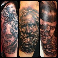 Tattoos by: Josh Fields www.platinumrosestudio.com