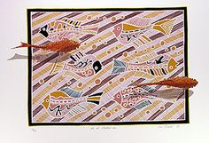 Buy Australian Aboriginal art paintings from Cooee Art Gallery Sydney, Australia's oldest Aboriginal art gallery. Aboriginal paintings, sculptures, artifacts and prints. Aboriginal Art For Sale, Aboriginal Art Animals, Aboriginal Painting, Aboriginal Artists, Australian Painters, Australian Artists, Fish Tales, Virtual Art, Indigenous Art