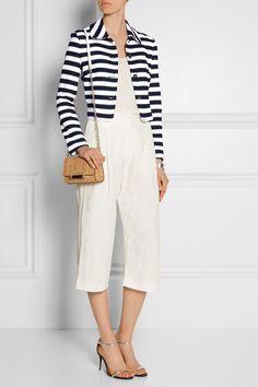 Diane von Furstenberg|Lacie striped cotton jacket|NET-A-PORTER.COM