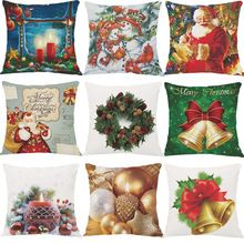 Zhulu do Boneco de neve de Papai Noel decoração Do Natal Capas de Almofadas Decorativas Caso Capa de Almofada de pelúcia Curto Para O Sofá Cadeira de Presente de Natal(China)