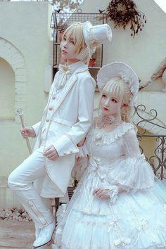 Arcadian Deer -Aphrodite- Ouji Lolita Set