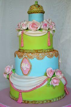 Deborah Hwang Cakes: Vintage Wedding Cake