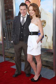 "Jayma Mays dress with oversized belt - Photos - Premiere Of Columbias Pictures' ""Paul Blart: Mall Cop"" - Zimbio"