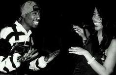 Tupac Shakur & Aaliyah Haughton, contagious smiles