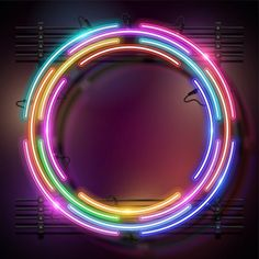 Rounded Neon Background.