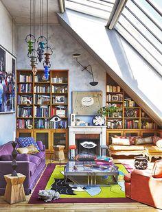 Le salon de l'appartement parisien d'Inès Sastre décoré par Vincent Darré © Gonzalo Machado