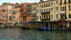 View of the terraces along the Grand Canal in Venice http://ift.tt/2DMogOH