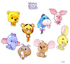 "Winnie l'Ourson et ses ami(e)s ""ChiBi"" ~ Winnie The Pooh ~ [❤️Disney❤️] ~ [⭐️WallPaper⭐️] Kawaii Disney, Chibi Disney, Disney Kunst, Arte Disney, Disney Art, Disney Pixar, Winnie The Pooh Drawing, Cute Winnie The Pooh, Disney Doodles"