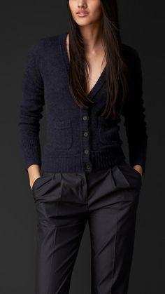 Cashmere Silk Cardigan   Burberry