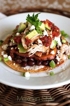 Leftover thanksgiving tostadas