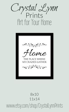 Funny Print available in two sizes, 8x10 and 11x14. Decorate your home for less with prints from Crystal Lynn Prints. For inexpensive funny home decor to fill your empty wall spaces click through to the store and see all the options offered.