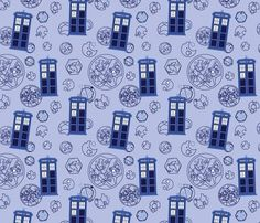 Madman in a Blue Box fabric via Spoonflower