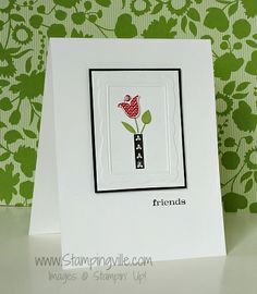 Bright Blossoms Friends Card