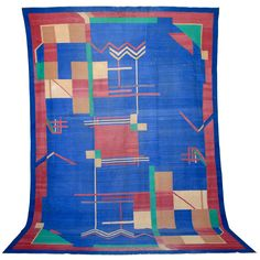 1stdibs   Art Deco Cotton Dhurrie - Maybe go more modern with rug. I'm getting frustrated.