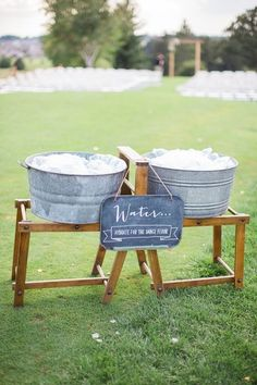 outdoor wedding drin