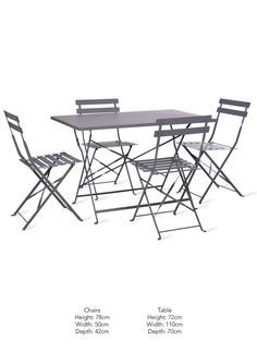 The Rive Droite Rectangular Bistro Set is the perfect outdoor furniture set for lazy lunches and evening parties Garden Furniture, Home Furniture, Outdoor Furniture Sets, Outdoor Decor, Outdoor Tables And Chairs, Bistro Set, Folding Chair, Home And Garden, Lunches