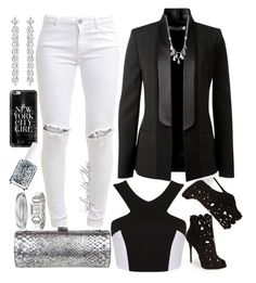 """City Nights"" by sparklemar ❤ liked on Polyvore featuring moda, Victoria Beckham, FiveUnits, Giuseppe Zanotti, Miss Selfridge, Jimmy Choo, Bochic, Kenneth Cole, Casetify ve Essie"