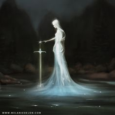 Lady of the lake by melaniedelon