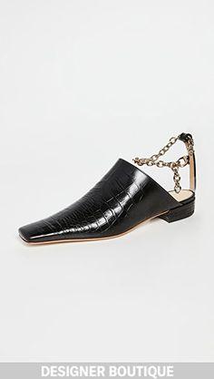 A.W.A.K.E. MODE   SHOPBOP Flat Mules, Crocs, Ankle Strap, Slippers, Cap, Flats, Heels, Women's Shoes, Leather