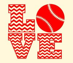 Chevron Love Baseball svg, dxf file scrapbook, cricut, silhouette cutting file on Etsy, $5.00