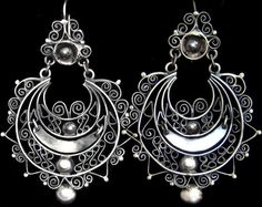 SALE  FROM 160 TO  135   Filigree Mexican earrings by titarubli, $125.00