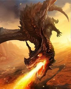 Beautiful pictures of dragons Dragon art and drawings Smaug Dragon, Fire Dragon, Flaming Dragon, Mythical Creatures Art, Magical Creatures, Fantasy Creatures, Dark Fantasy Art, Fantasy Artwork, Cool Dragons