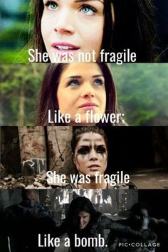 The 100 Octavia Narnia, 100 Memes, Funny Memes, The 100 Quotes, Girl Power Quotes, Marie Avgeropoulos, The 100 Show, The 100 Clexa, Bellarke