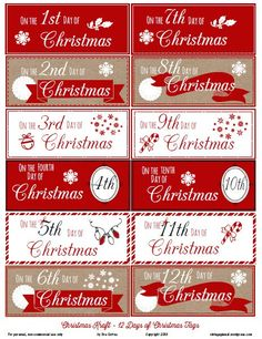 Free Printable Download – 12 Days of Christmas Gift Tags | Vintage Glam Collectibles