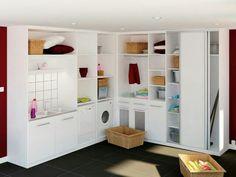 Laundry storage dressing and garage on pinterest - Ikea rangement cellier ...