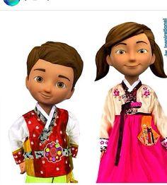 caleb y Sofia koreanos