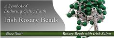 Rosary Beads St Brigid, Irish Catholic, Rosary Beads, Bead Shop, Rosaries, Celtic, Faith, Gift Ideas, Gifts