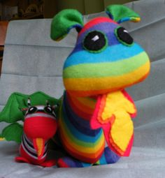 Dragon and Baby from £6 made from socks!