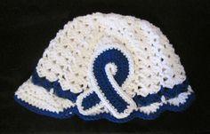 Crochet Awareness Ribbon Hat