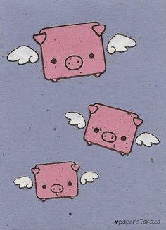 Flying Pigs by *littlepaperforest on deviantART