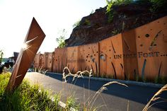 Memory Wall @ CAP ROUGE in Quebec by Plania Landscape Architecture Works