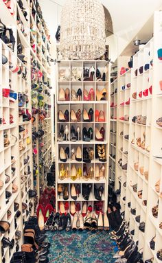 shoes--be still my heart--what a thing to have a shoe room!--it's almost too much and a very guilty pleasure--