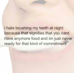 Brushing my teeth, lol