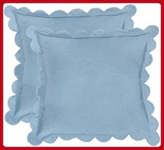 Safavieh Pillow Collection Throw Pillows, 12 by 20-Inch, Pinafore Wedgwood Blue, Set of 2 - Improve your home (*Amazon Partner-Link)