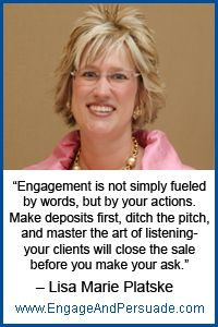 "http://www.engageandpersuade.com/meetmelissa  ""Ditch the pitch!"""