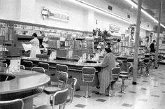 Lunch counters at Kresge's in downtown Decatur Illinois Photo from Decatur Tribune  Closed in 1977