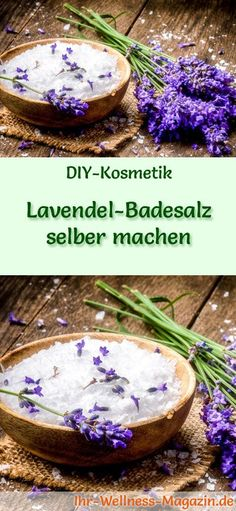 Badezusätze selber machen: Lavendel Badesalz
