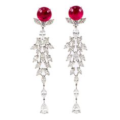 Diamond and Tourmaline Shoulder Dusters
