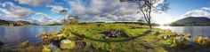 panorama photo from Scotland by Alan McLean (Albiphotography). Found at the most North-eastern point of Loch Awe , Kilchurn Castle is a very popular photogra. Panoramic Photography, Lightning Strikes, Abandoned, Scotland, Castle, Pride, Lost, Travel, Popular