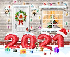Happy New Year Cards, Happy New Year Greetings, New Year Gifts, Fireworks Background, Celebration Background, Elegant Christmas Decor, Christmas Decorations, Christmas Balls, Xmas