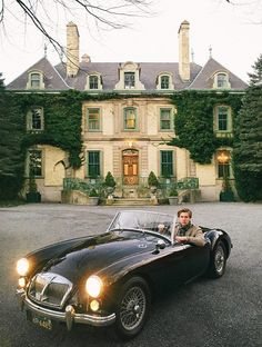 Austin Healey...loved Dad's silver one! Fun car.