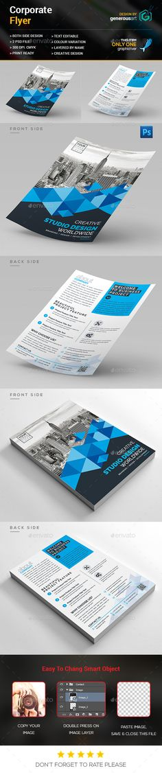 Buy Corporate Flyer by generousart on GraphicRiver. File Information: Easy Customizable and Editable Size CMYK Color Design in 300 DPI Resolution Print Ready. Psd Flyer Templates, Business Flyer Templates, Print Design, Web Design, Creative Design, Modern Design, Corporate Flyer, Green Landscape, Flyer Design