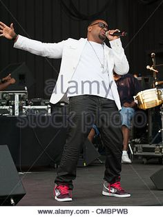 July 12, 2012 - Philadelphia, Pennsylvania, U.S - R&B singer, AVANT, performing live at the opening night of the - Stock Photo