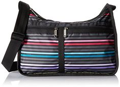 LeSportsac Classic Deluxe Crossbody Lestripe Black One Size >>> Want additional info? Click on the image. (This is an Amazon affiliate link)