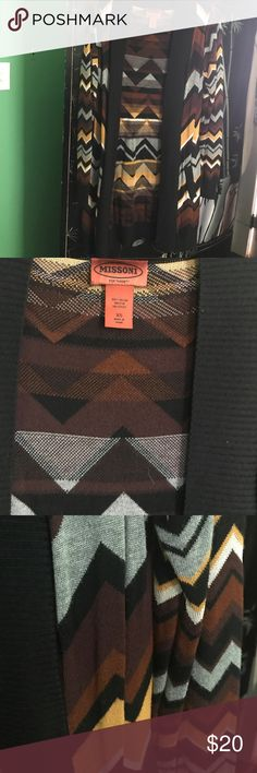 Missoni for target long cardigan Gorgeous long cardigan by Missioni for target. The perfect fall cardigan to jazz up any basic outfit. Soft and cozy. It is an XS but I wear a large and it fits me just fine. Excellent condition no flaws. Missoni for Target Sweaters Cardigans